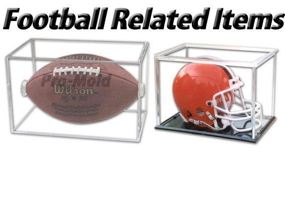 NFL Football Holder & Mini Football Helmet Case
